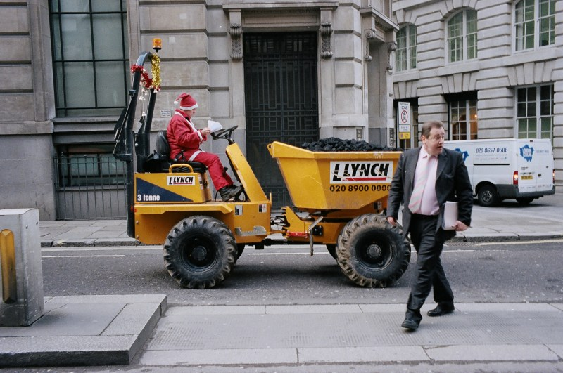 Santa Claus and Suit. London, 2014 // ERIC KIM