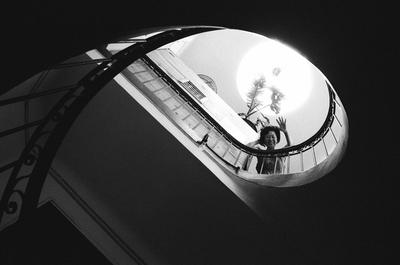 My mom. Spiral staircase. Marseille, 2015