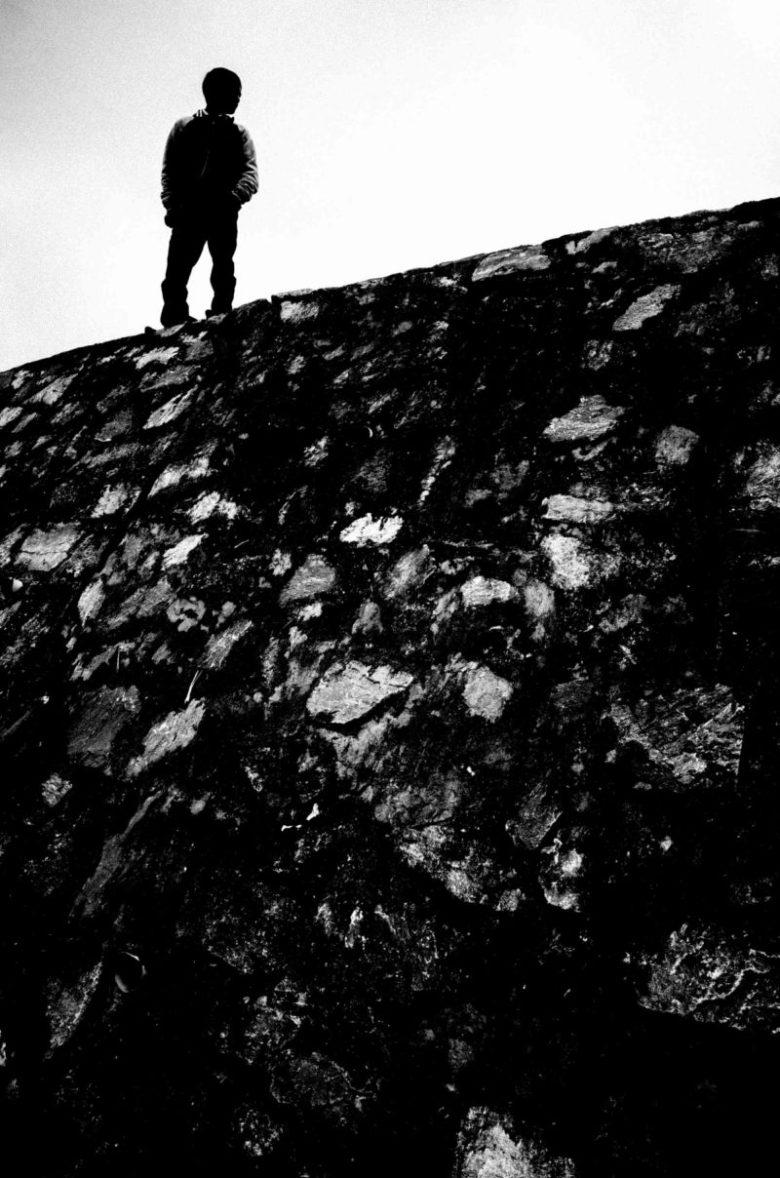 Man in silhouette. Sapa, Vietnam 2017