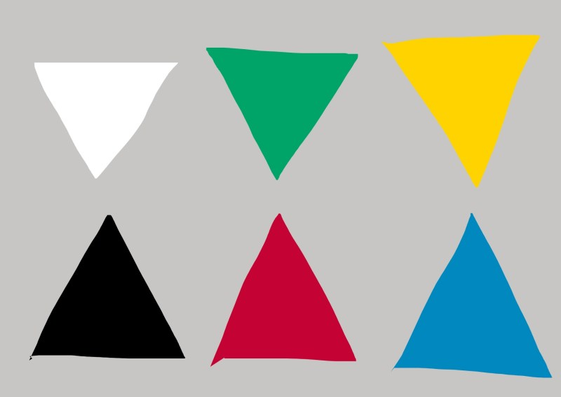 Opponent based color theory. Opposing colors become more intense when placed next to one another.