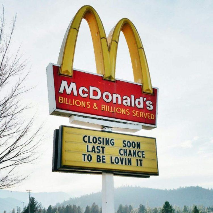 McDonald's. Closing soon.
