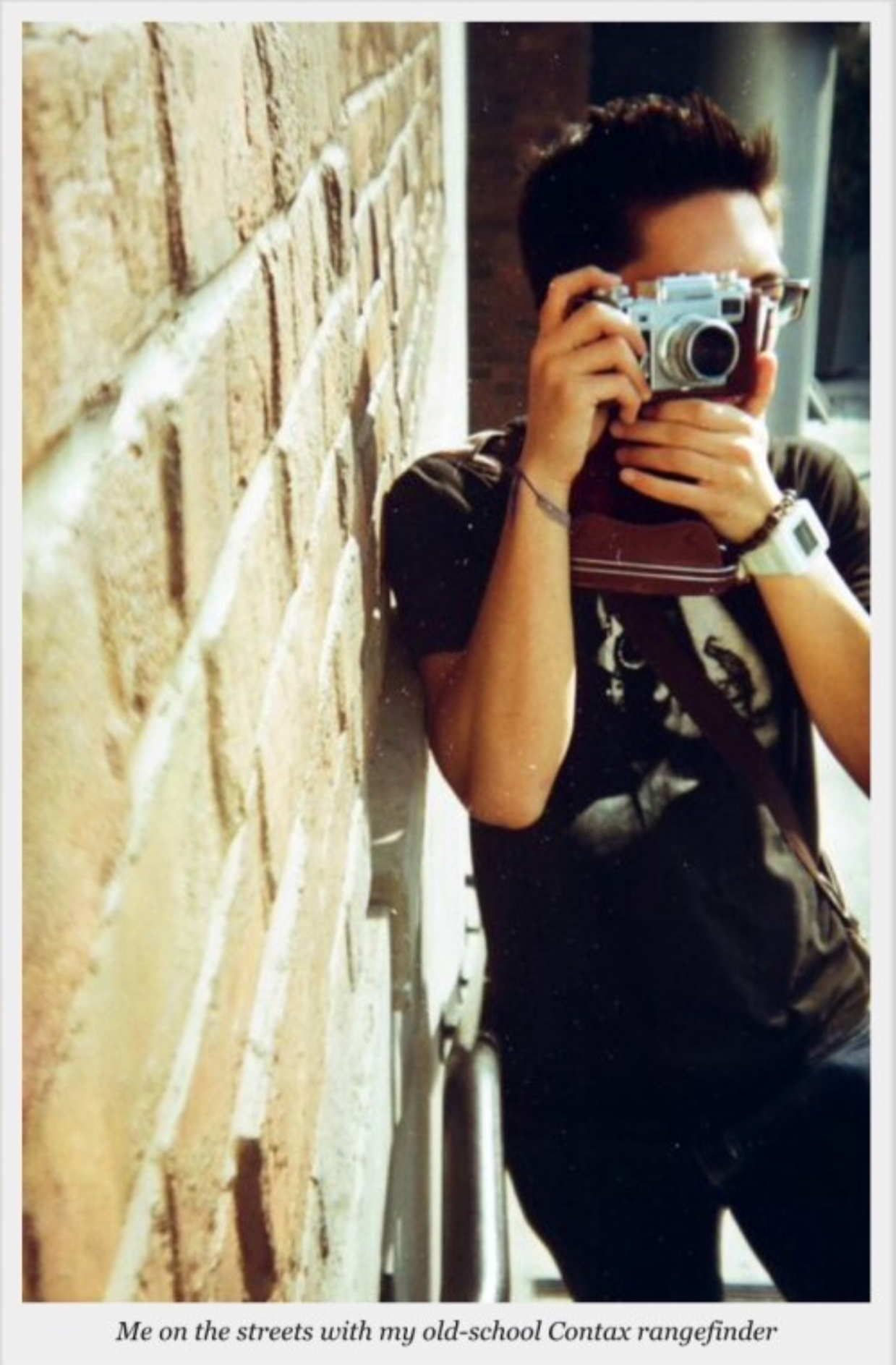ERIC KIM with Contax II rangefinder, 2009