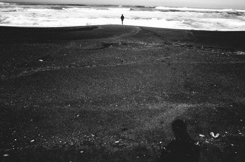 Cindy walking at beach. Fort Bragg, 2015 #cindyproject