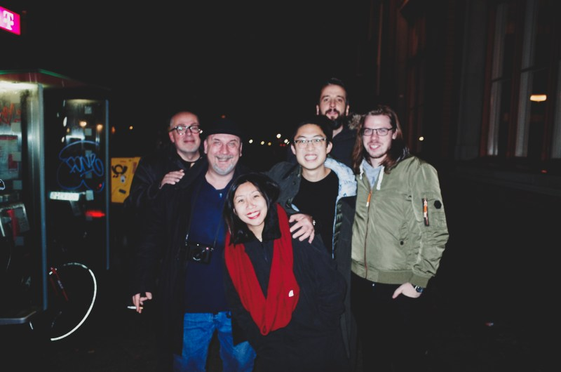 Street photography meet up for beers, food, and good company. Group picture with friends in Berlin, 2017