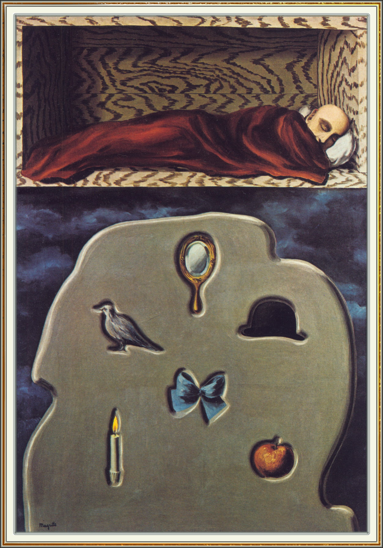 1927, Rene Magritte, The Reckless sleeper