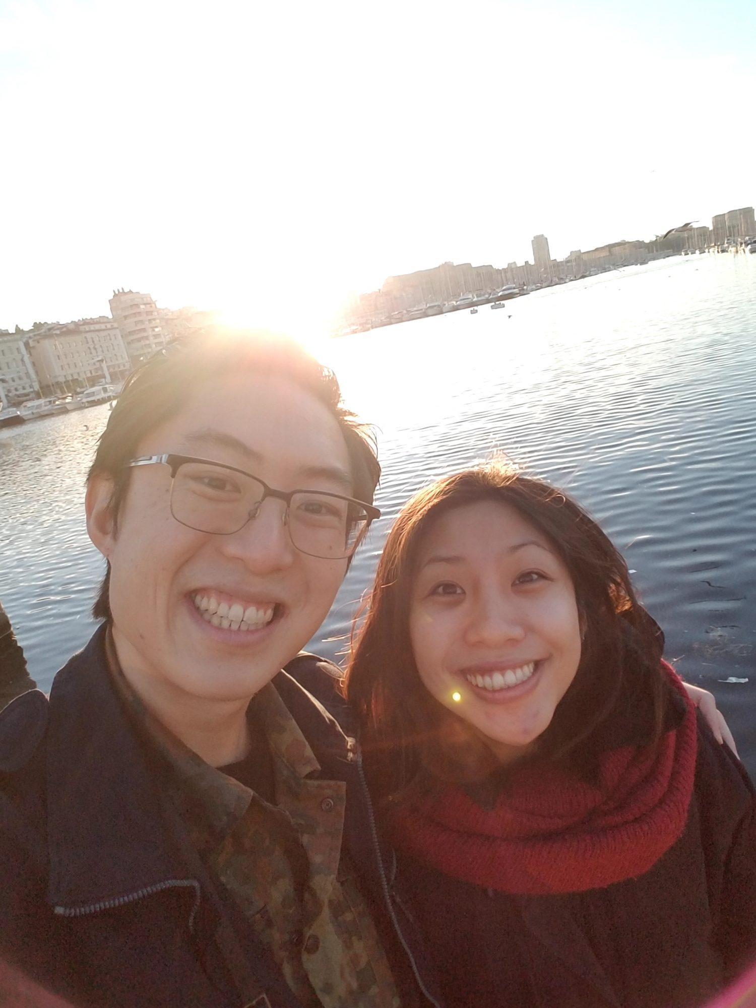 Selfie of me and Cindy in Marseille, 2017