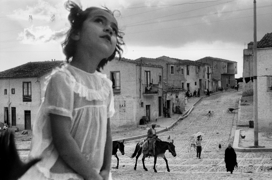 ITALY. Sicily. Corleone main street. 1959. Sergio Larrain