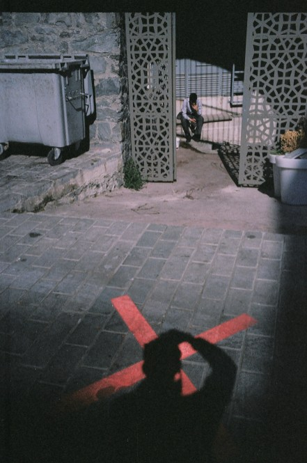 Selfie with x over my head. Istanbul, 2013