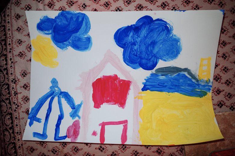 Artwork by Margot, a kid. Marseille, 2017