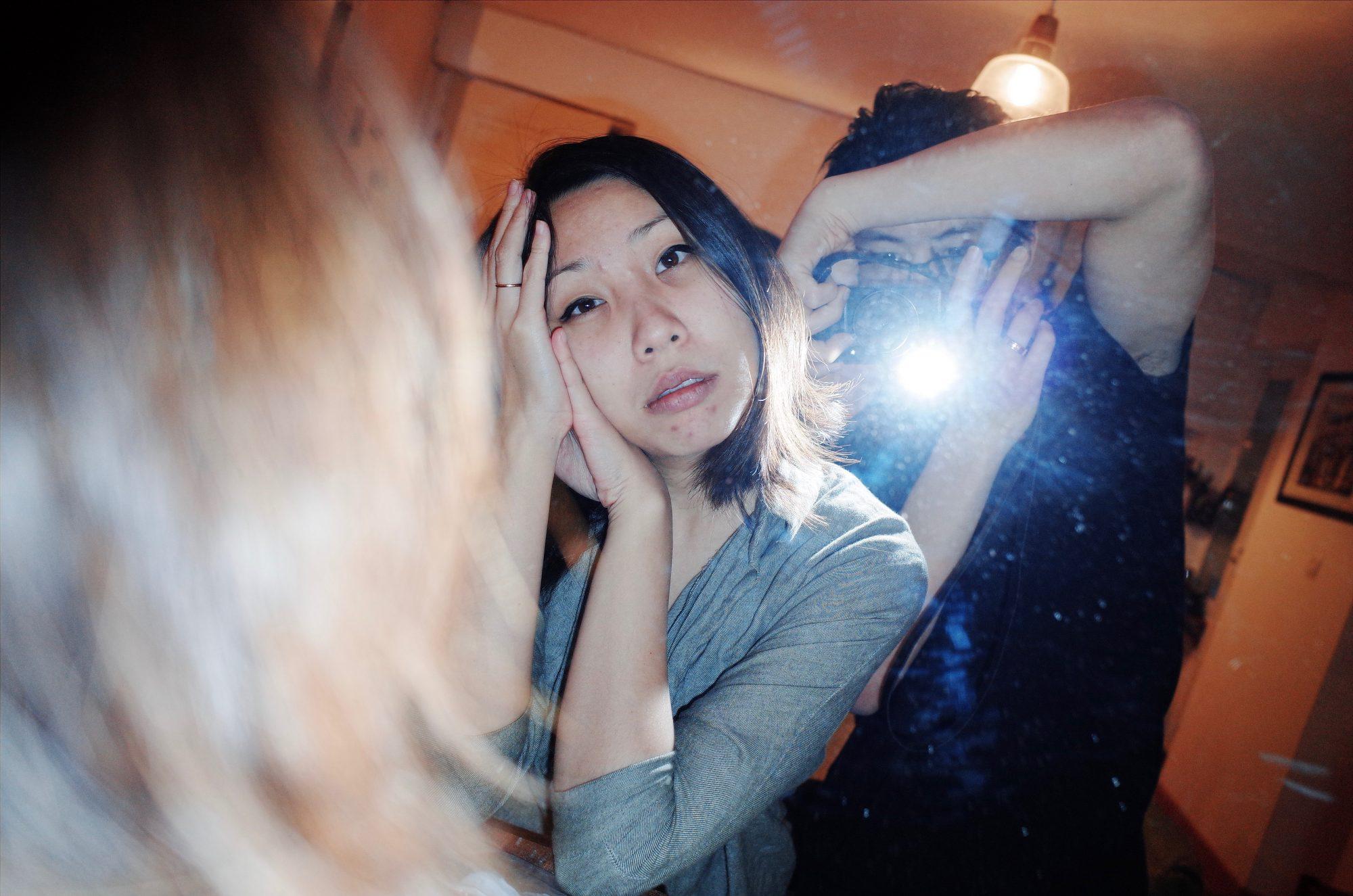 Selfie with Cindy in mirror, marseille