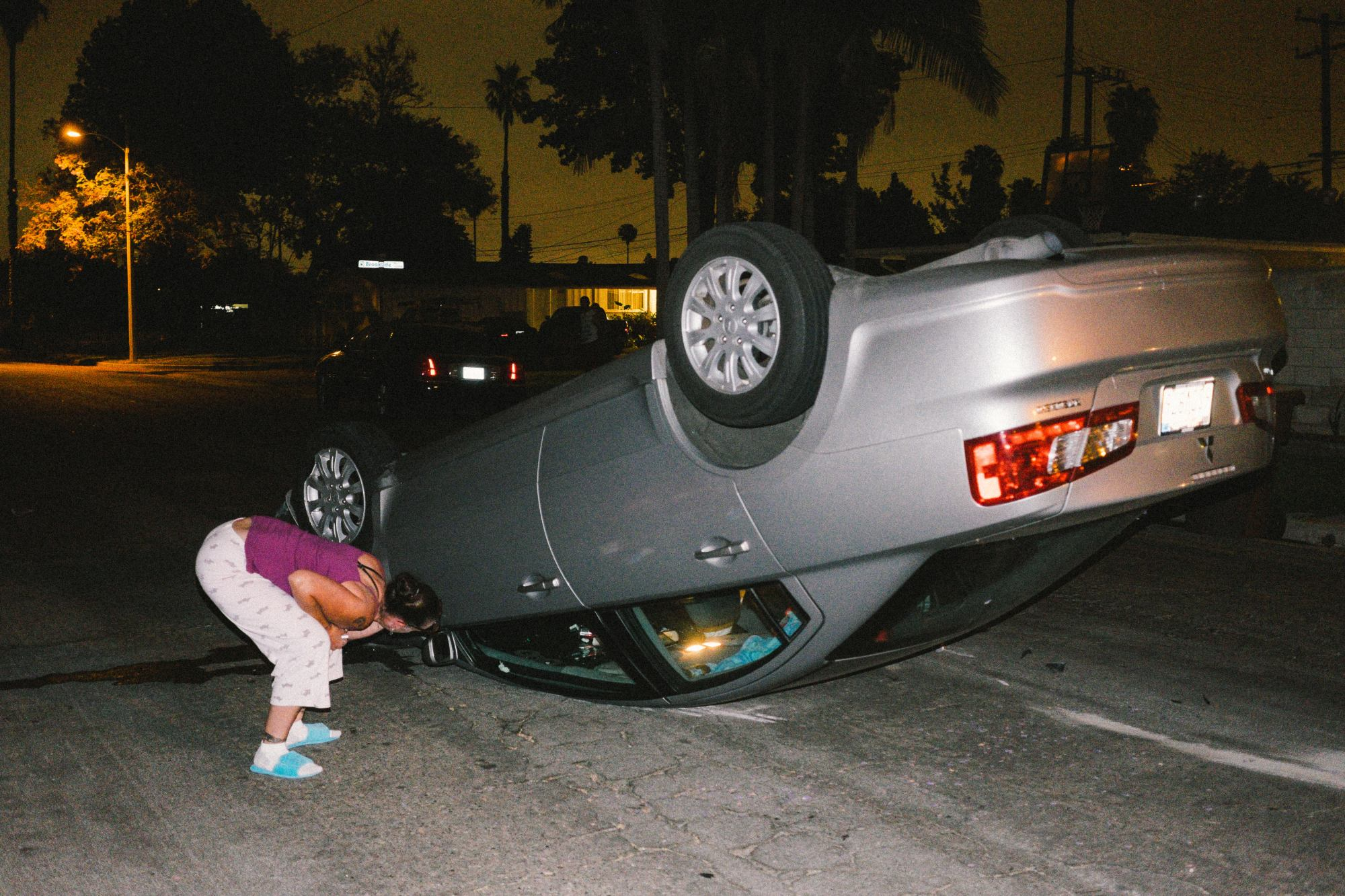 Flipped car. Orange County, 2015