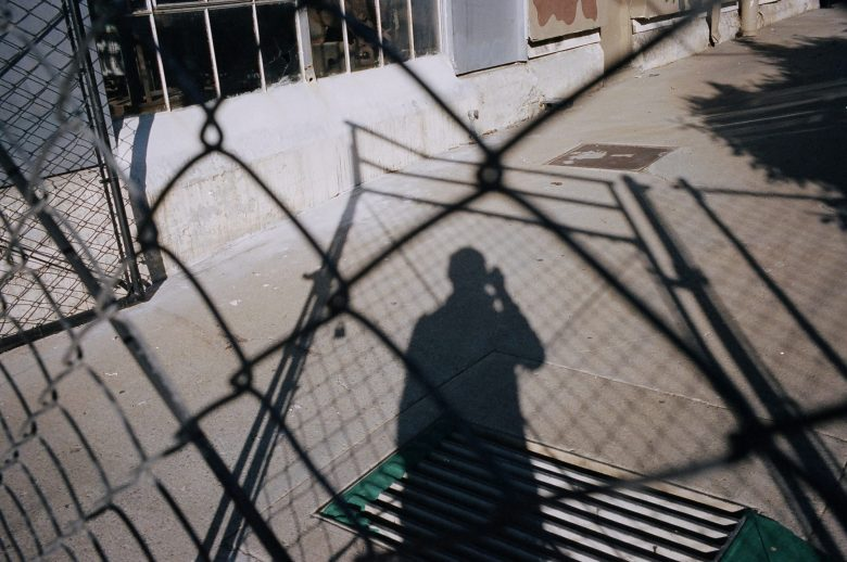 Selfie with shadows. Berkeley, 2013