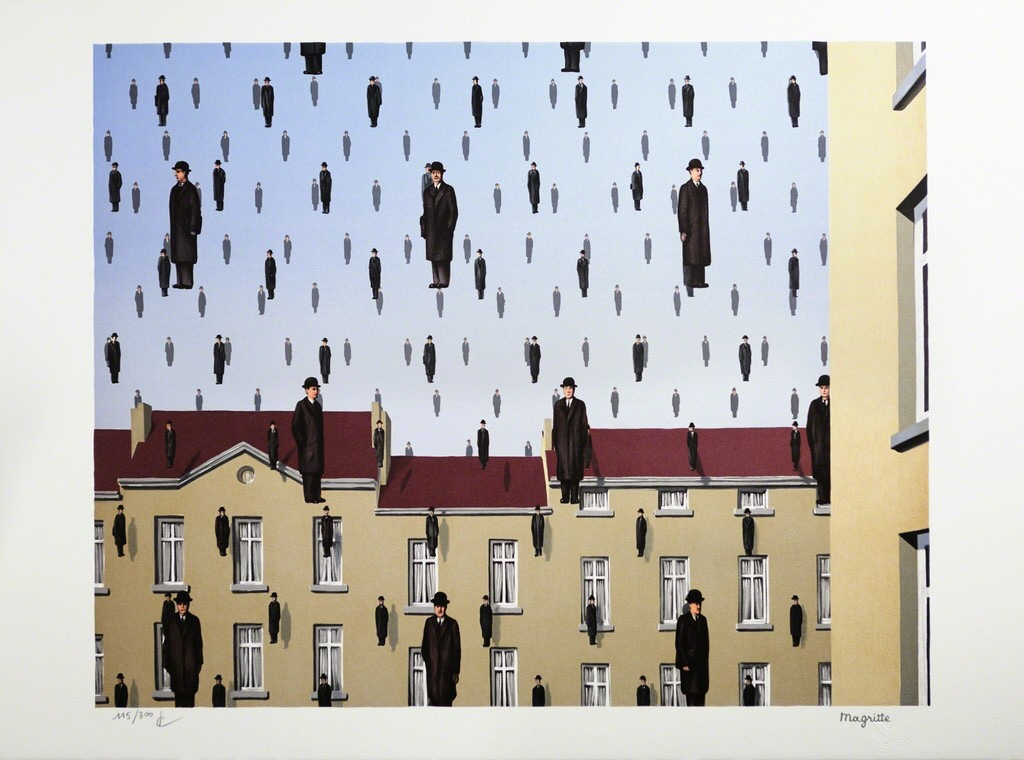 Magritte, Golconda, 1953