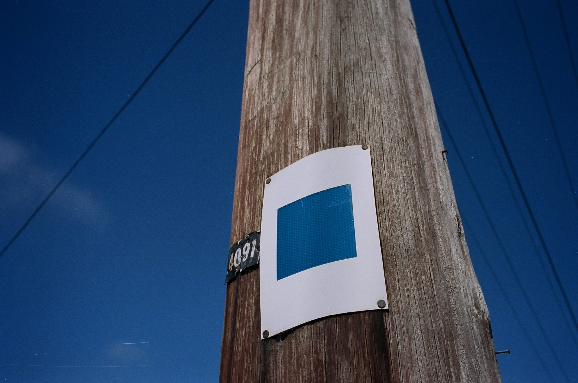 Blue square against blue sky. Surreal, 2013