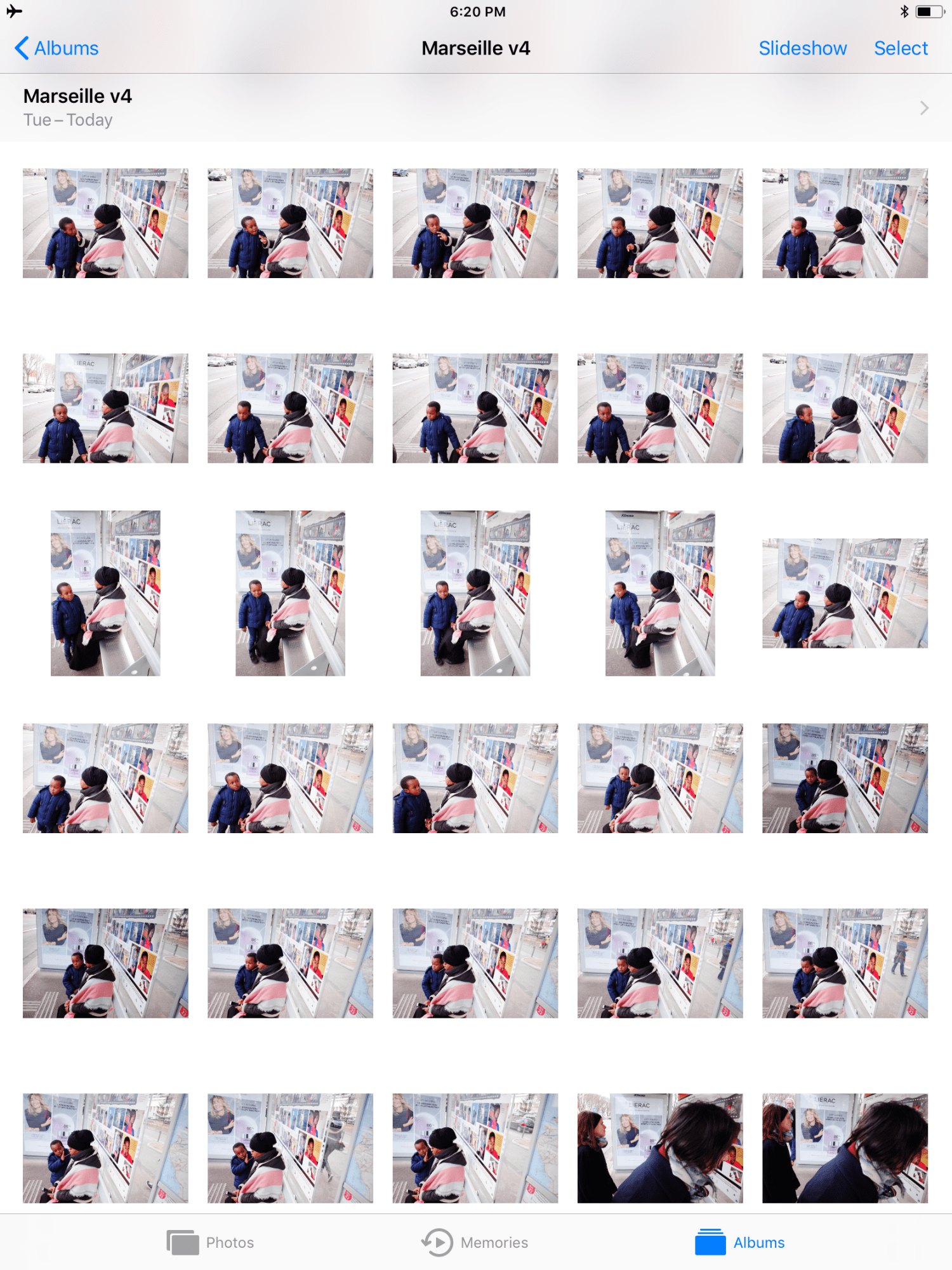Contact sheet 2, Boy with mother, marseille, 2017