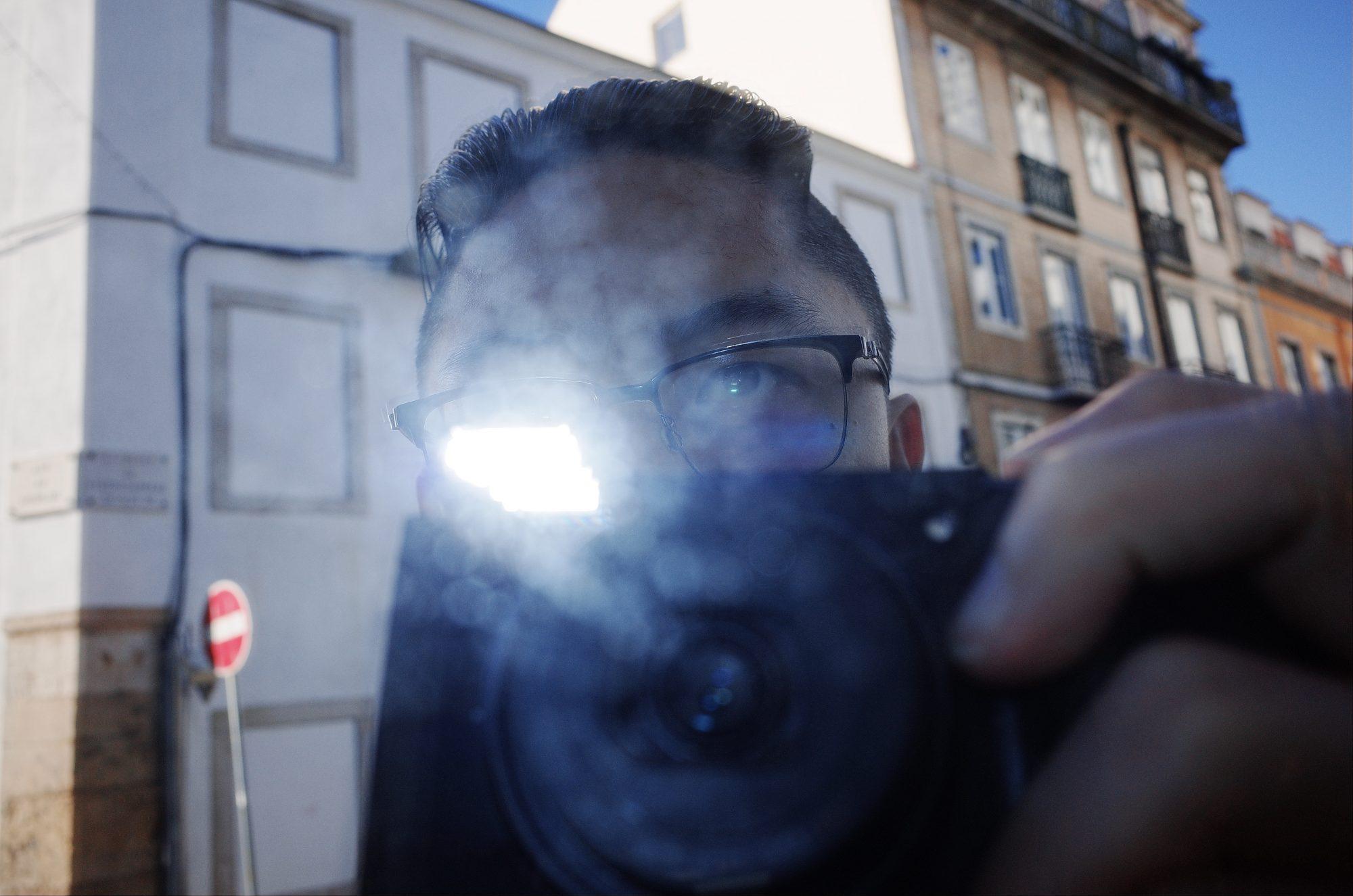 Eric kim selfie flash Ricoh gr Lisbon