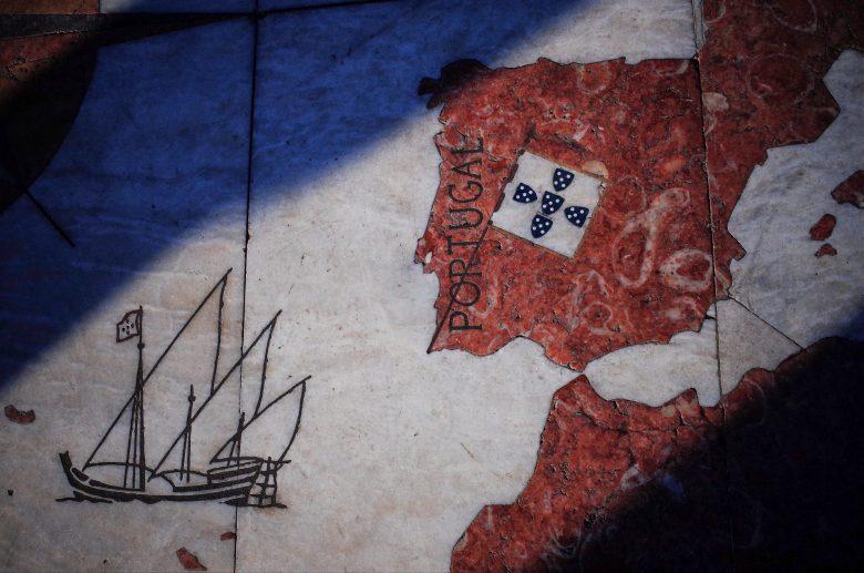 Map of Lisbon, Portugal.