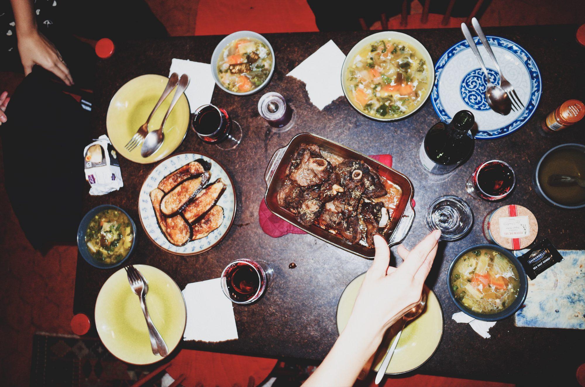 Family dinner. Marseille, 2017