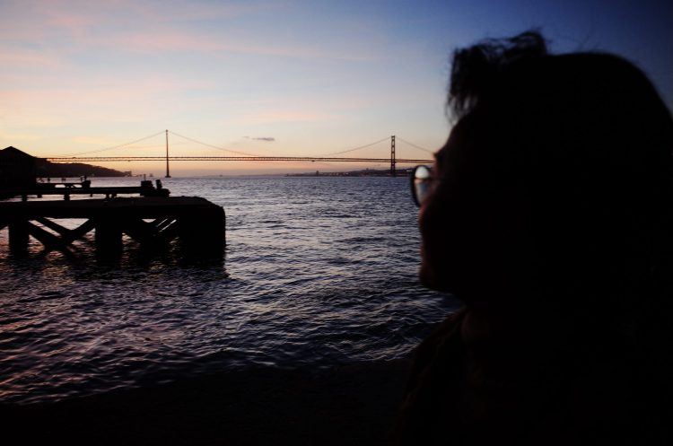 My mom by the water. Lisbon, 2018