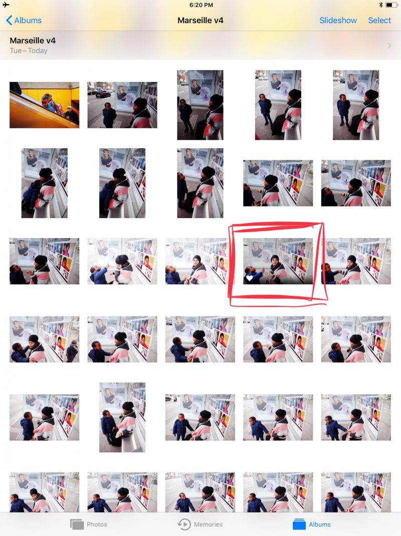 Contact sheet 1, Boy with mother, marseille, 2017