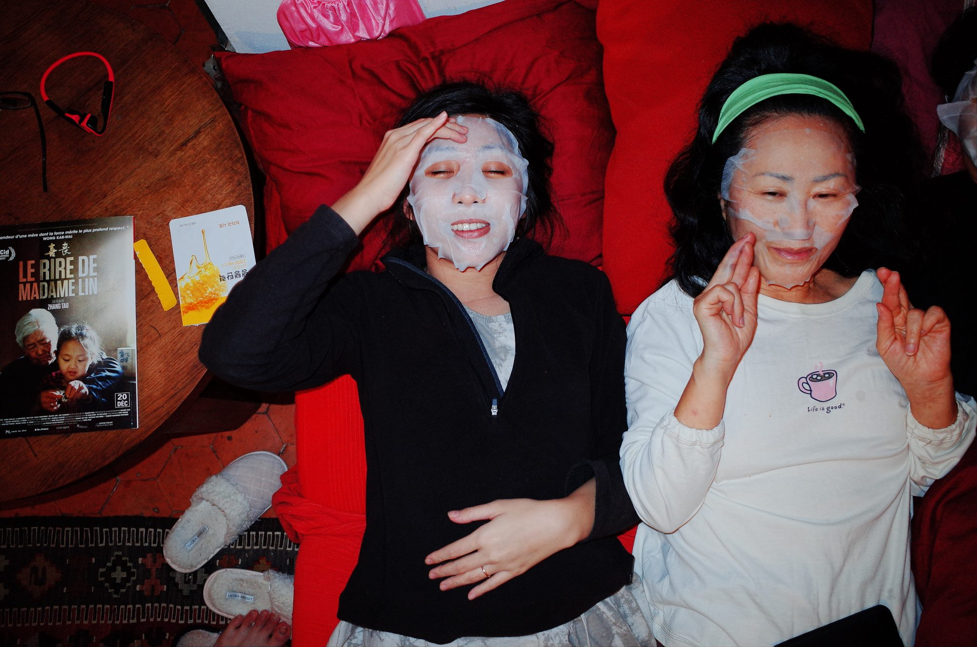 Cindy and my mom with face masks. Marseille, 2018