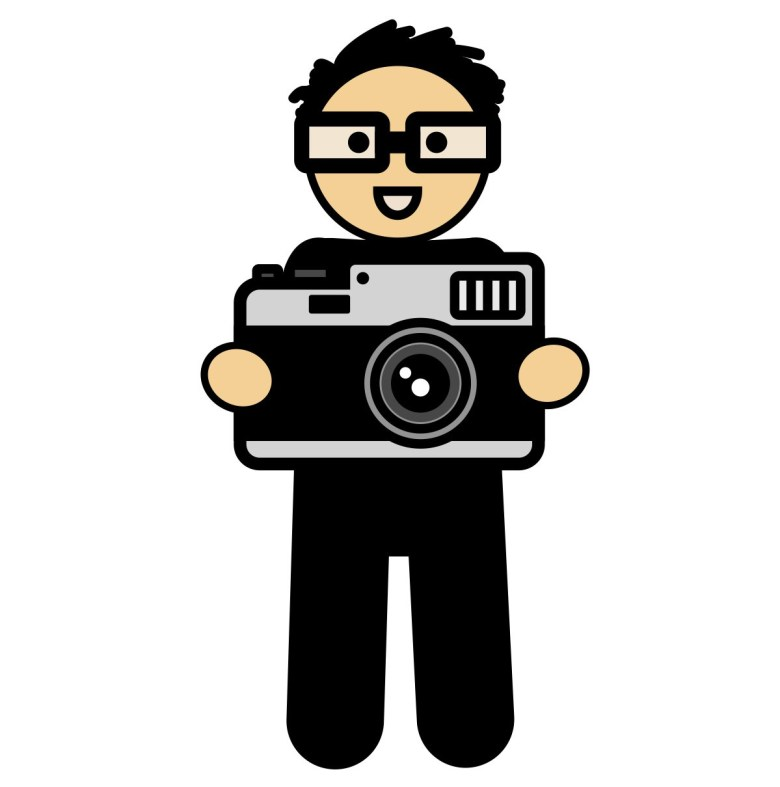 ERIC KIM Cartoon with camera // from ZEN OF ERIC