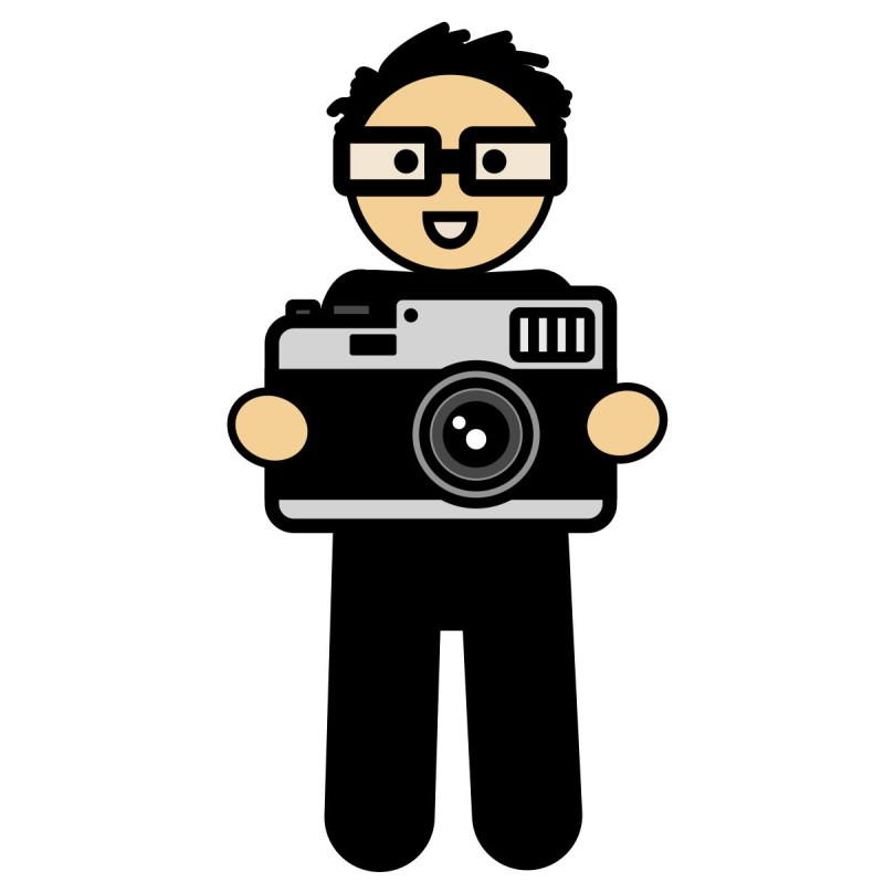ERIC KIM Cartoon with camera // from ZEN OF ERIC