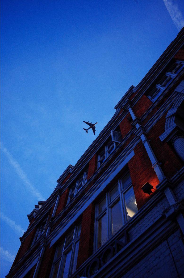 Plane in London