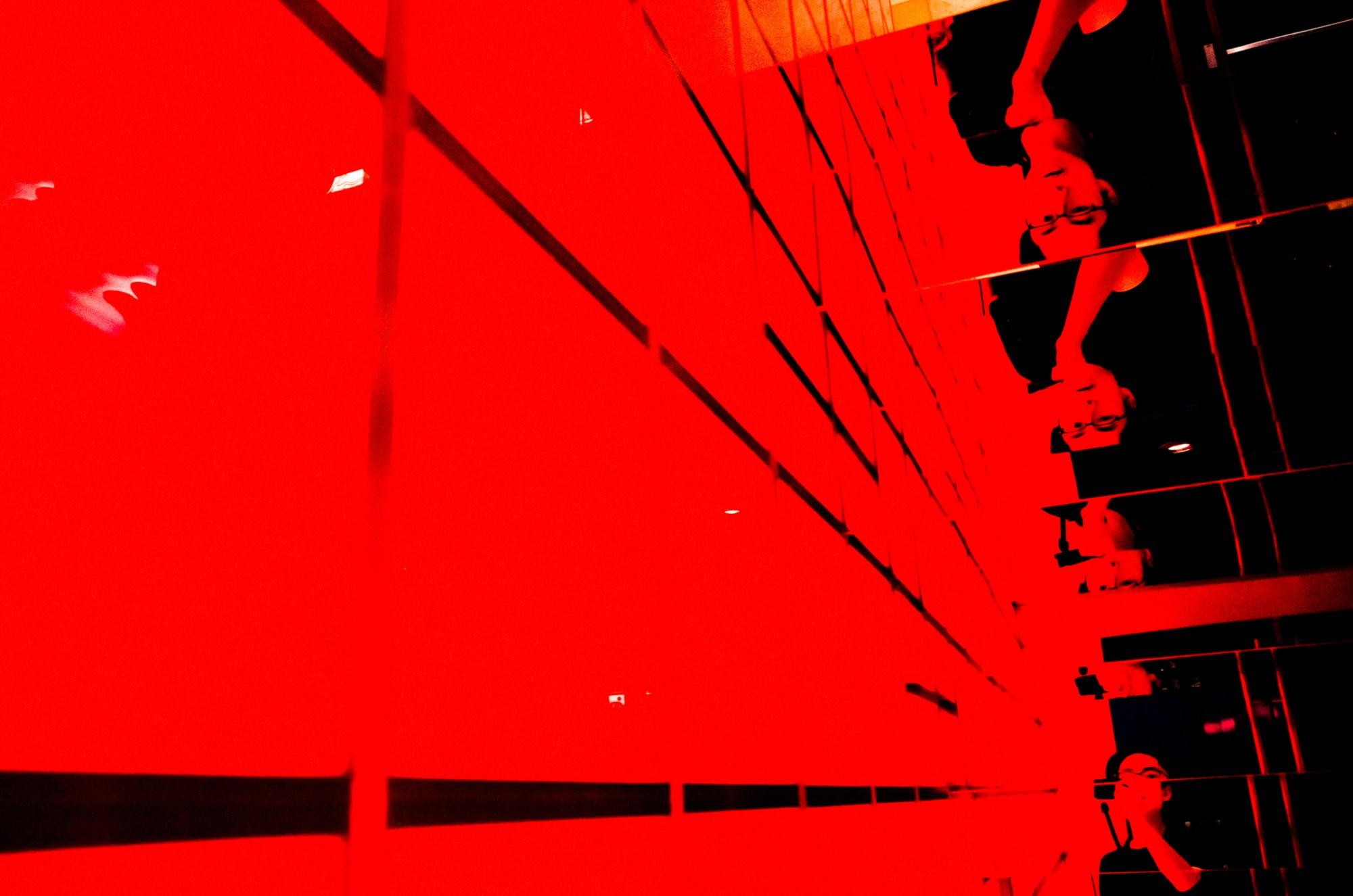 Red selfie. Tokyo, 2017