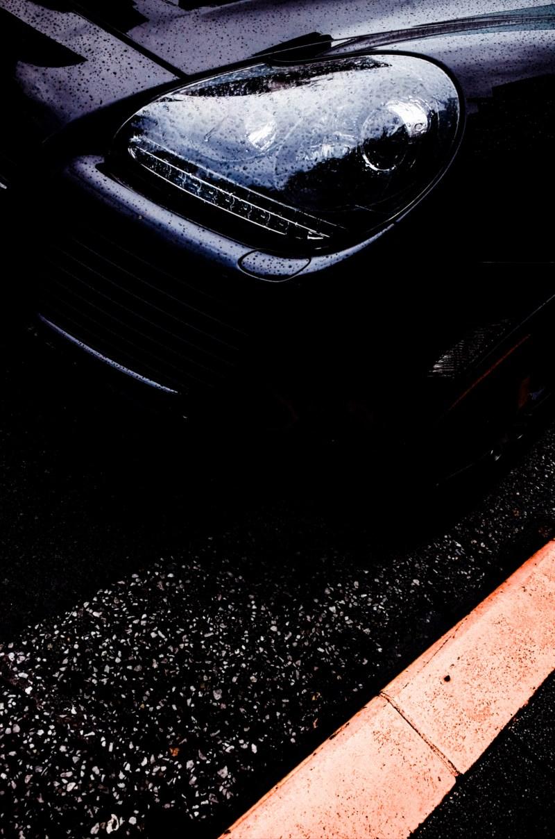 Porsche Cayenne Headlight. Tokyo, 2017