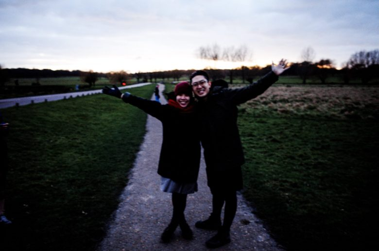Cindy and I going on a lovely evening walk. London, 2018
