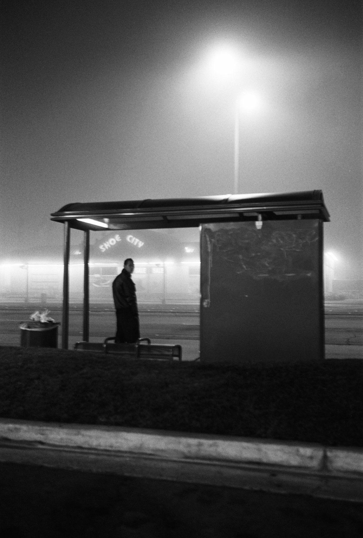Fog at night. Orange County, 2014