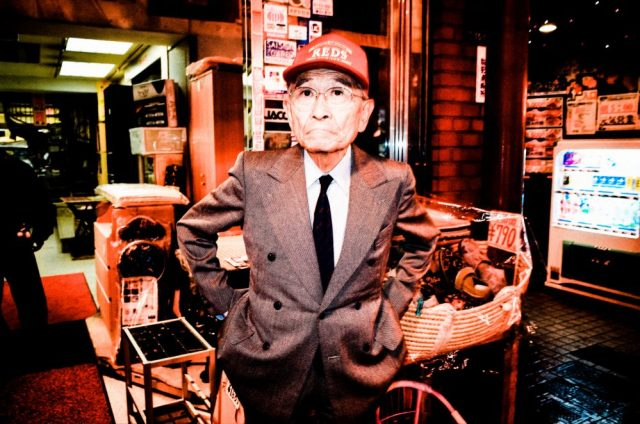 Tokyo man red hat flash street photography without permission, flash, Ricoh gr ii