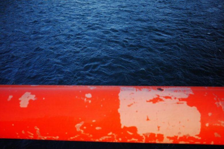 Blue and orange color combination. Uji, 2018