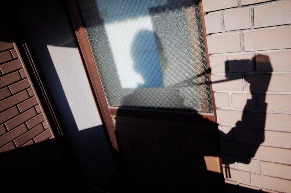 Selfie shadow with RICOH GR II x ERIC KIM NECK STRAP, Osaka 2018
