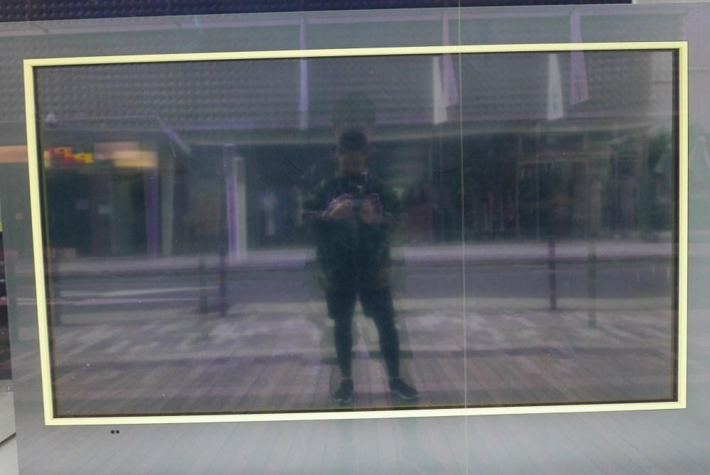 Selfie yellow box Osaka