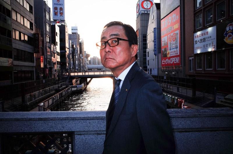 Suit on Osaka bridge, 2018