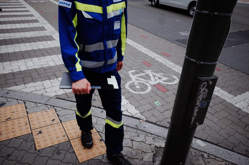 walking man abstract