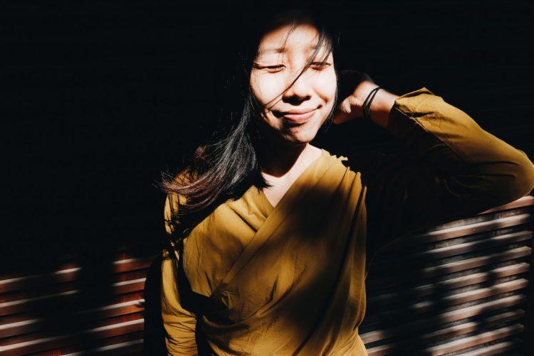 Cindy yellow portrait temple