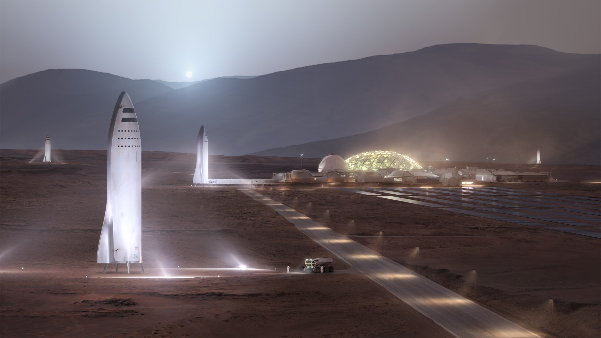 Artist rendition of possible Mars Colony