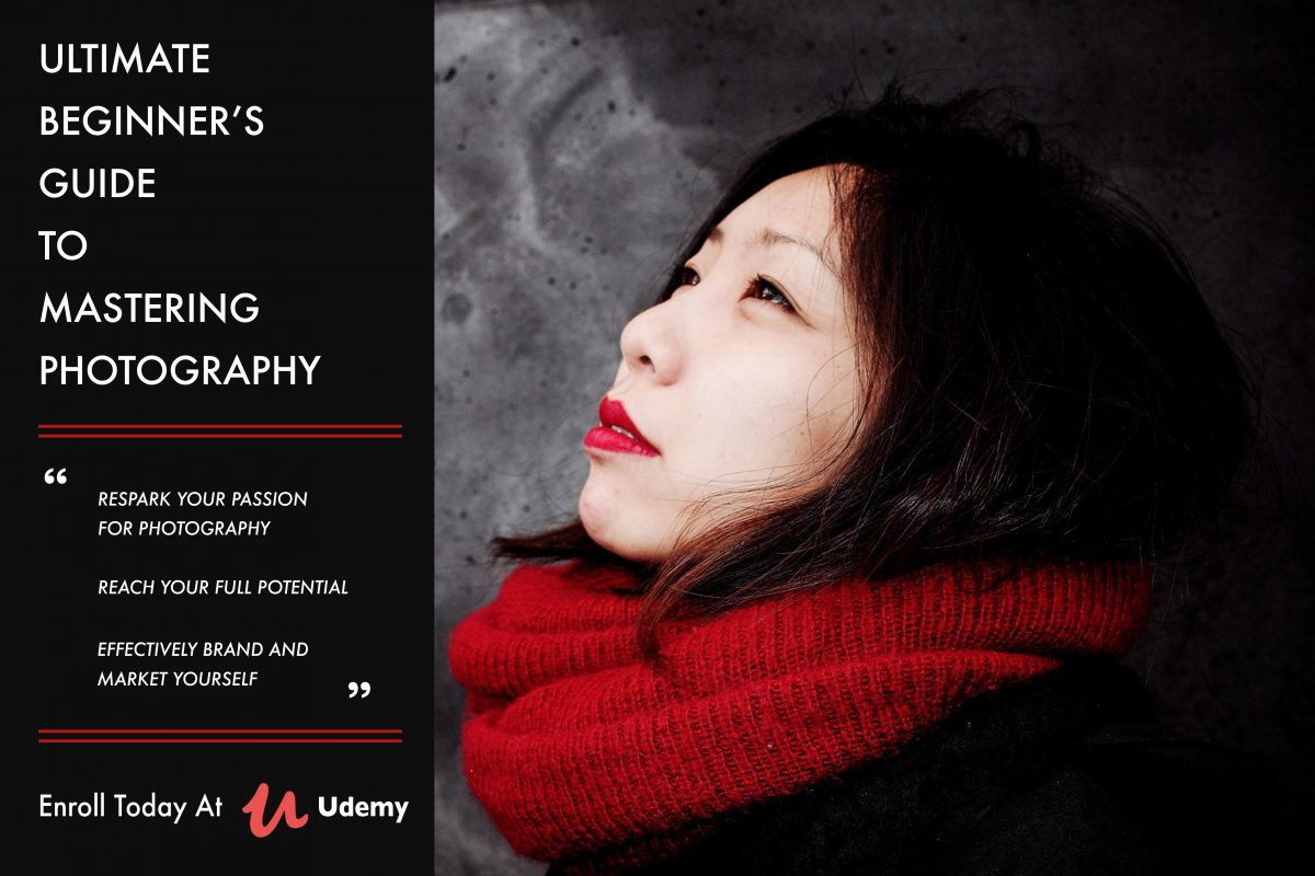 """Ultimate Beginner's Guide to Mastering Photography"" now live on Udemy!"