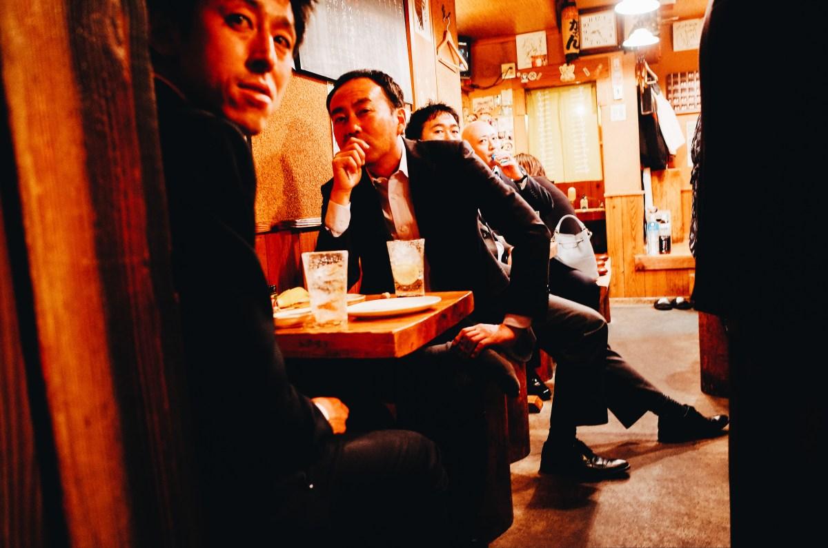 Salarymen in bar. Asakusa, Tokyo 2018