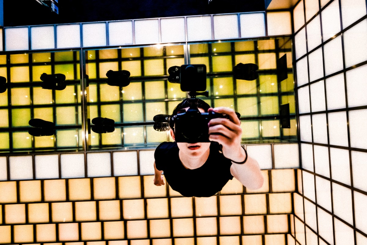 Selfie in Shibuya Bape store, reflection. Tokyo 2018