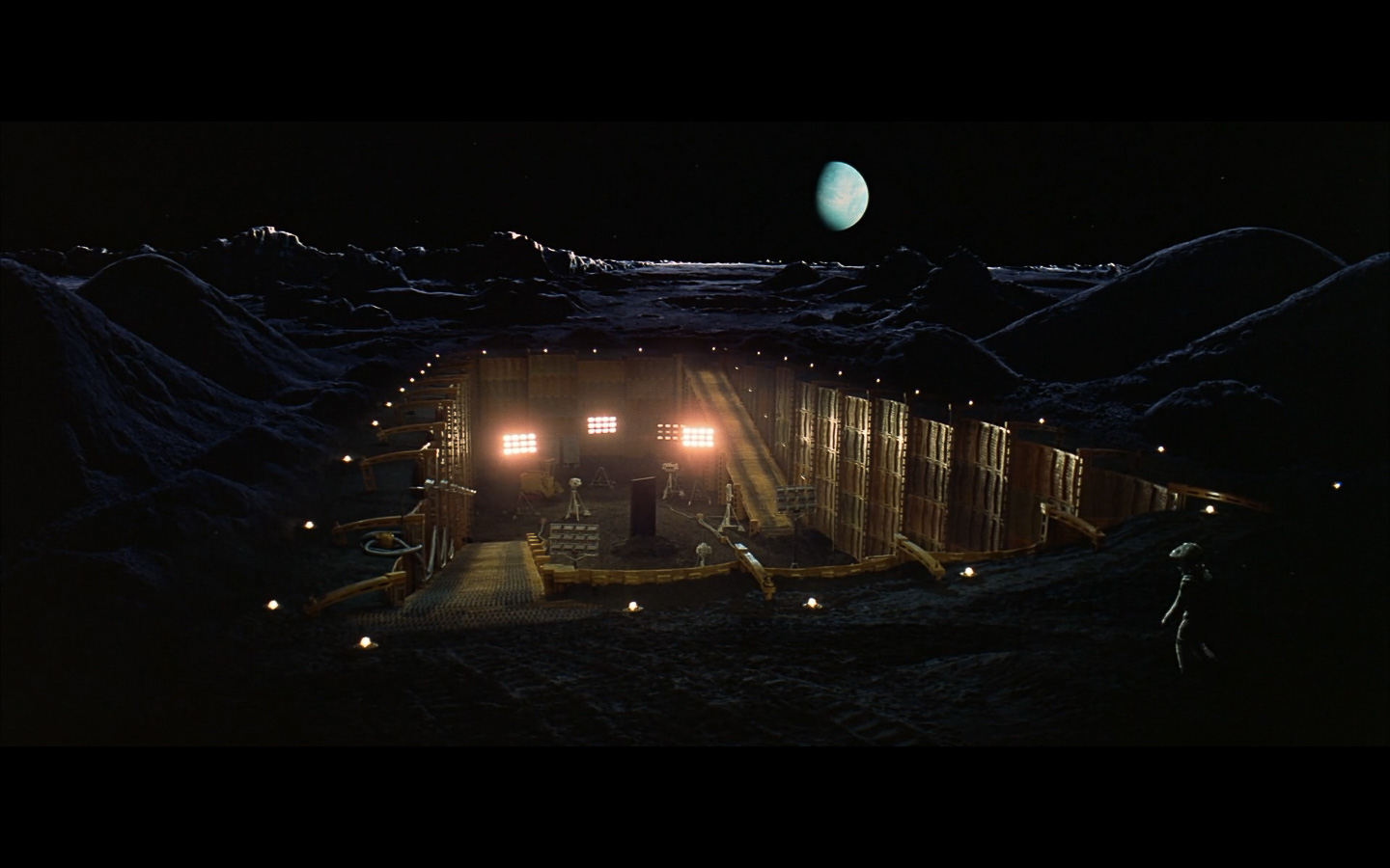 scene on the moon obelisk - space odyssey-2