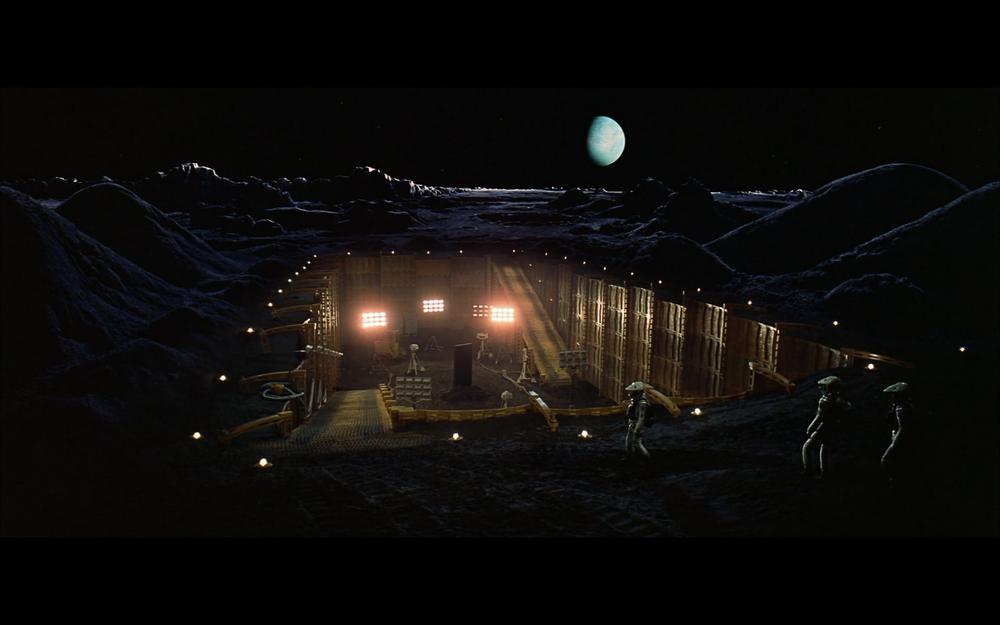 scene on the moon obelisk - space odyssey-3