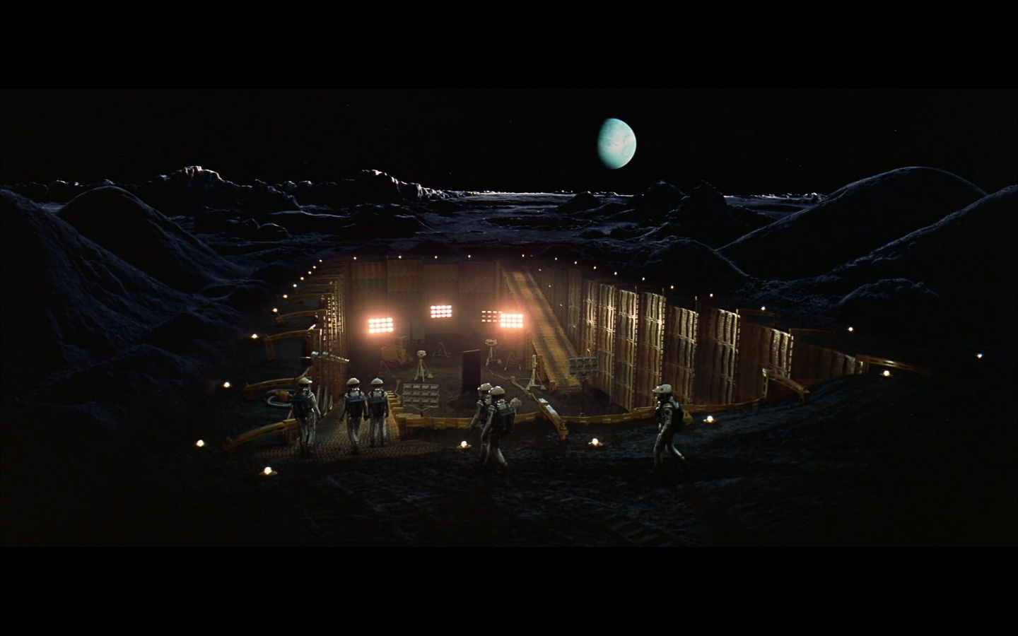 scene on the moon obelisk - space odyssey-5
