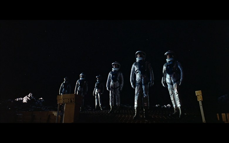 scene on the moon obelisk - space odyssey-6