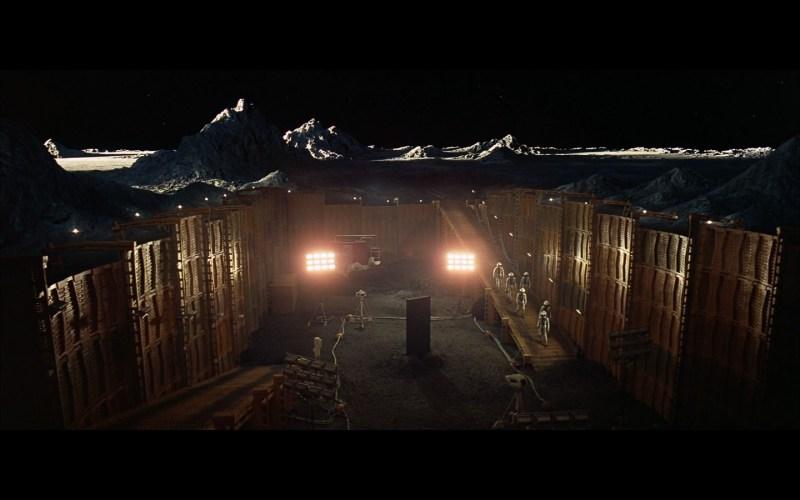 scene on the moon obelisk - space odyssey-9