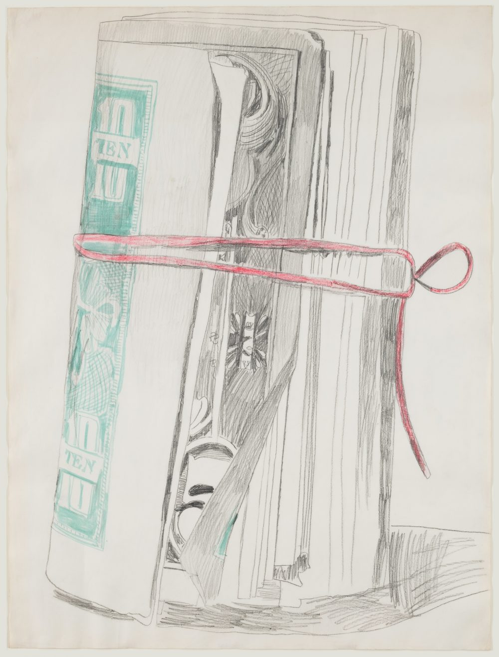 Andy Warhol money drawing