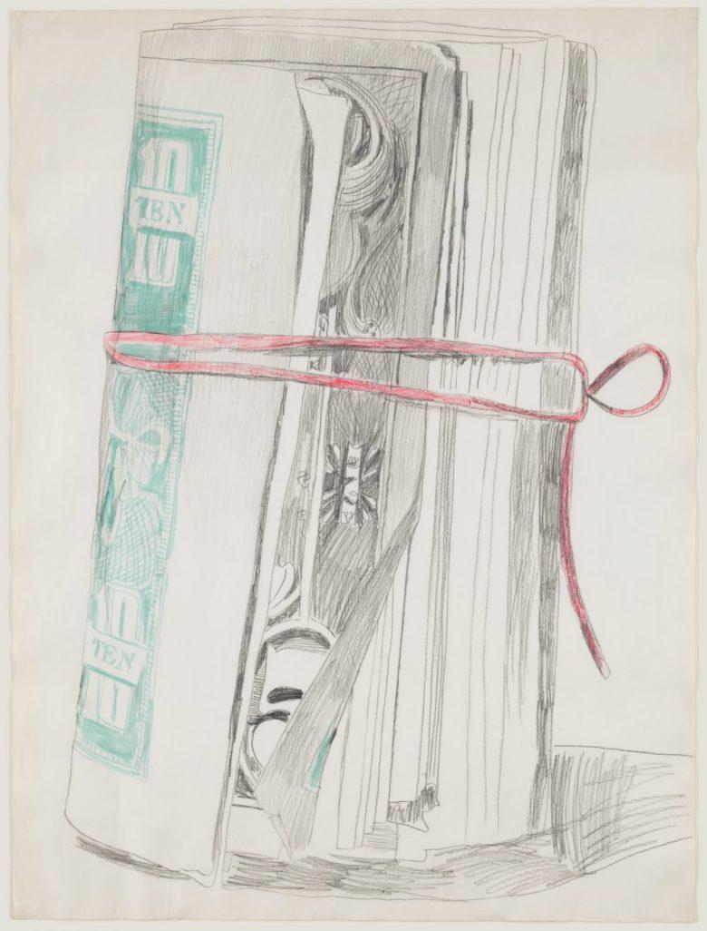 Andy Warhol money drawing